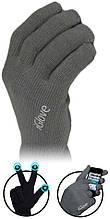 Перчатки для сенсорных экранов Touch iGloves Dark Grey