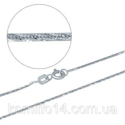 Серебряная цепь снейк (родий), фото 2