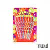 Свечи для торта 8 шт Happy Birthday изогнутые без подставок