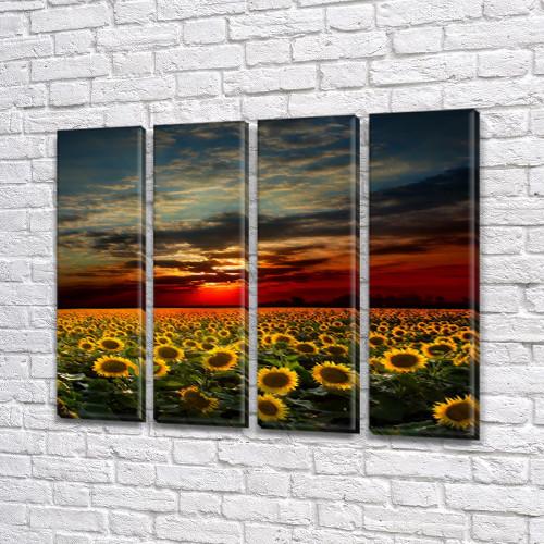 Картины триптих на холсте купить дешево, на Холсте син., 65x80 см, (65x18-4)