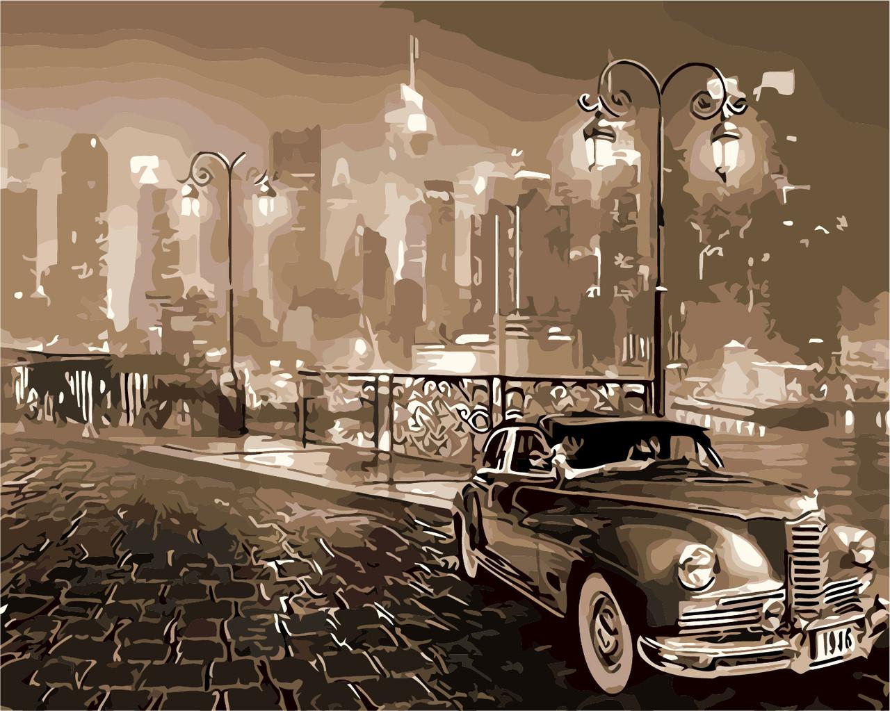 Картина по номерам В ретро стиле, 40x50 см., Art Story