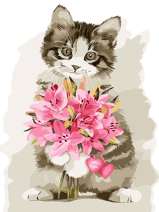 Картина по номерам Цветы в подарок, 30x40 см., Art Story