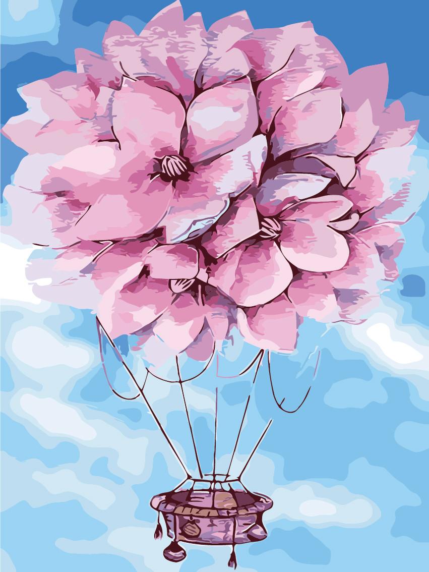 Картина по номерам На воздушном шаре, 30x40 см., Art Story