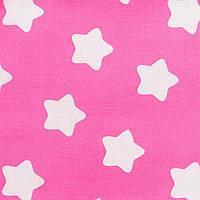 Детская простынь на резинке в кроватку BabySoon хлопок Звезды на розовом120 х 60 см (228)