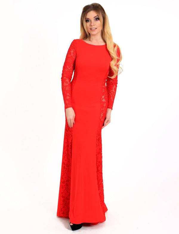 Платье  красное вечернее