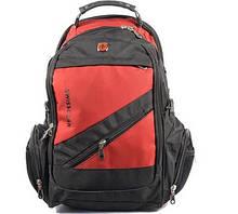 Городской рюкзак SwissGear 8810-2 red чёрно-красный
