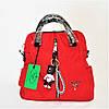 Эксклюзивный Итальянский женский рюкзак-сумка красного цвета IRE-060059