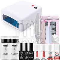 """Стартовый набор """"Kodi Professional Premium""""  для покрытия гель лаком с УФ лампой на 36 Вт"""