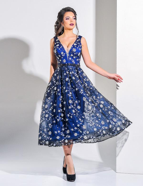 Платье женское тёмно-синее  вечернее  ENIGMA MKENG 2182