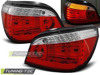 Фонари тюнинг оптика BMW E60 (03-07) LED красно-белые