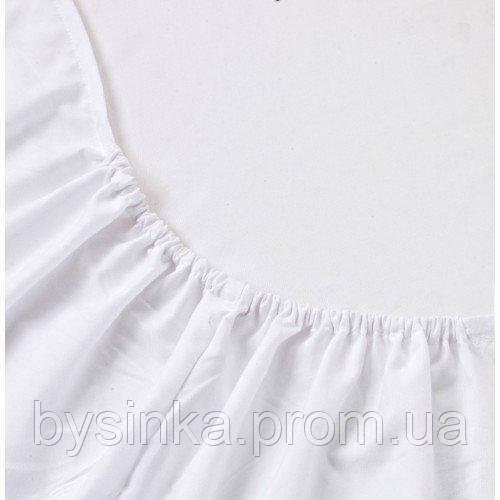 Простынь на резинке в детскую кроватку BabySoon белая 120 х 60 см (0237)