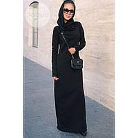 Теплое платье длинное макси женское №423