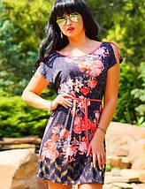 Летнее женское платье с орнаментом и цветами (0772-0774-0773-0880 svt), фото 2