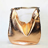 Удобная женская сумочка на плечо золотистого цвета BТТ-400091, фото 1