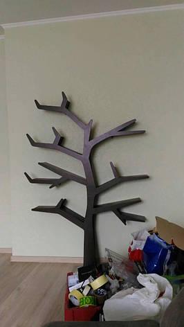 """Полка МДФ для книг с подстветкой """"Дерево"""" 1700*1200 см, фото 2"""
