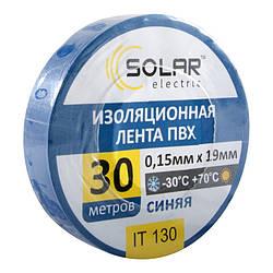 Изолента SOLAR IT130 синяя 30м