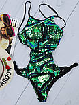 Жіночий купальник відрядний купальник з паєтками, фото 2