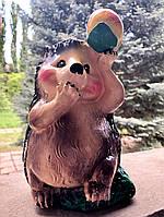 Садовая фигура Ёжик с яблоком