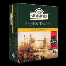 Чай Черный Английский чай №1  AHMAD 100 пакетиков