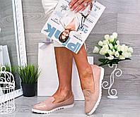Женские туфли мокасины, эко-замш, фото 1