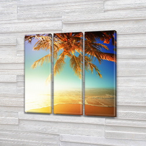 Модульные картины фото на Холсте син., 65x65 см, (65x20-3)