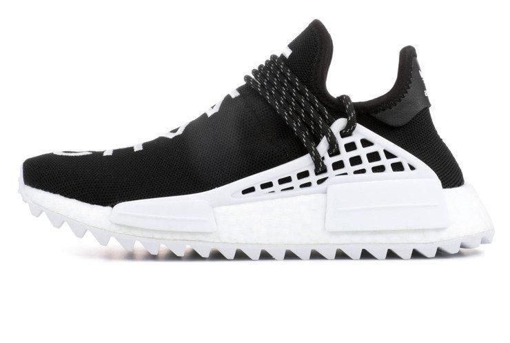 571dc61b2bb4 Мужские кроссовки Chanel Pharrell Adidas NMD Black White (Реплика ААА  класса)