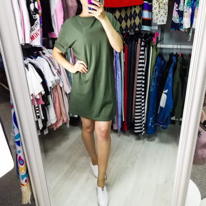 Комплект футболка+юбка фатин хаки- 523-0362-1
