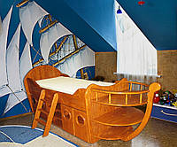 """Детская одноярусная кровать """"Кораблик"""", фото 1"""