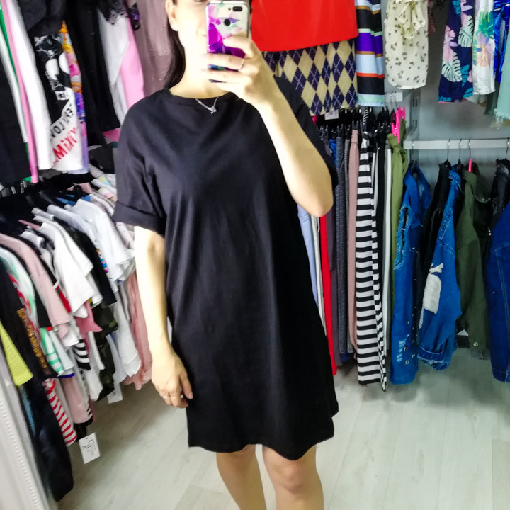 Комплект футболка+юбка фатин чёрный- 523-0362-2