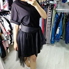 Комплект футболка+юбка фатин чёрный- 523-0362-2, фото 3