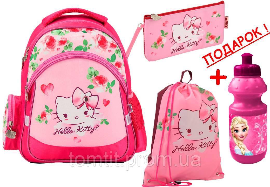 322d8282e078 Комплект. Рюкзак школьный Hello Kitty HK17-521S + пенал + сумка, ТМ ...