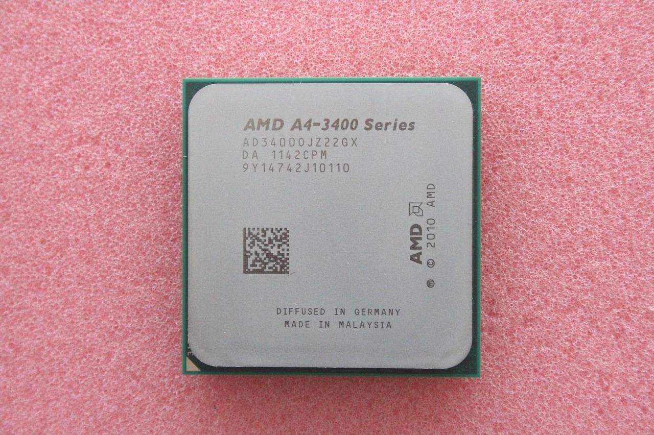 Процессор AMD sFM1 ATHLON A4-3400 - 2 ЯДРА ( 2 по 2.7 Ghz каждое) ad34000jz22gx FM1 с ГАРАНТИЕЙ