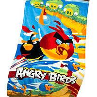 Полотенце пляжное 75x150 Angry Birds велюр