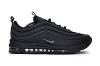 Мужские кроссовки весна/осень Nike Air Max 97 black (найк аир макс) (реплика), фото 1
