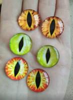 Кабошон круглый 2 шт, фурнитура для украшений, глаз 20 мм, фото 1