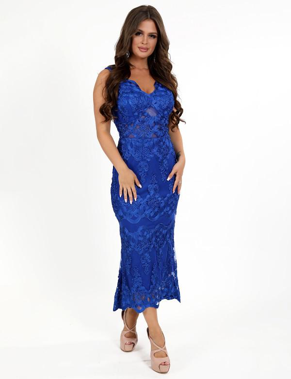 Платье женское електрик  вечернее ENIGMA MKENG 3062