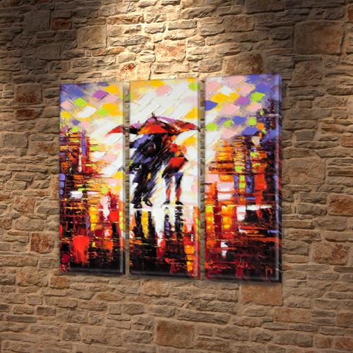 Картины купить модульные на Холсте син., 65x65 см, (65x20-3)