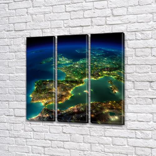 Купить картину модульные, на Холсте син., 65x65 см, (65x20-3)