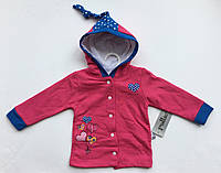 Батник-куртка кардиган на девочку с начесом 6,9,12,18 месяцев