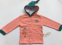 Куртка кардиган на девочку с начесом 6,9,12,18 месяцев, фото 1