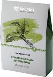 Токсидонт-май с зеленым чаем Джинсейдо (антиоксидант, интоксикация, отравление, онкология, токсины, иммунитет)