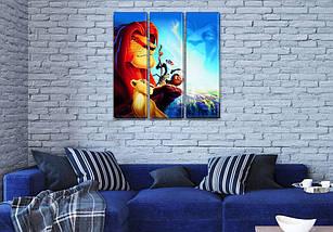 Картина модульная Король Лев в детскую, на Холсте син., 65x65 см, (65x20-3), фото 3