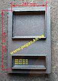 Дверка чугунная (300х465) грубу, печи, барбекю, мангал, фото 2
