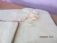 Одеяло из овчины детское с овечкой