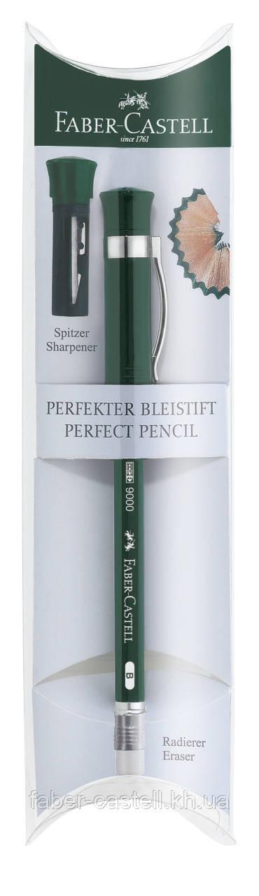 Карандаш чернографитный  Faber-Castell CASTELL® 9000 + колпачок с точилкой в подарочной упаковке, 119037