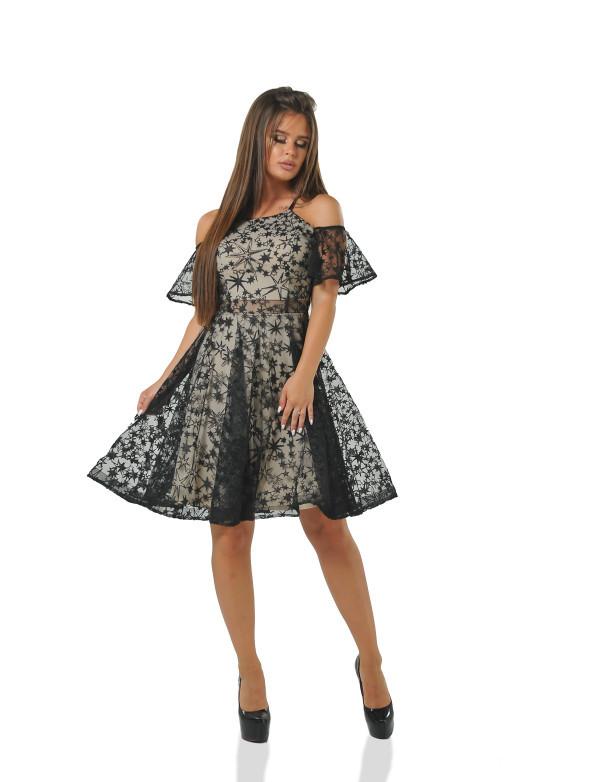 Платье женское черное вечернее ENIGNA MKENP 0071
