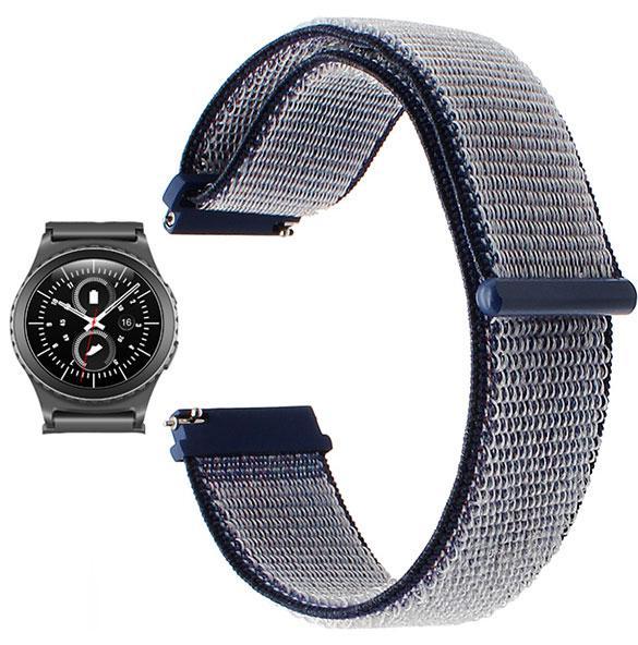 Нейлоновий ремінець Primo для годин Samsung Gear S2 Classic SM-R732 / RM-735 - Navy Blue