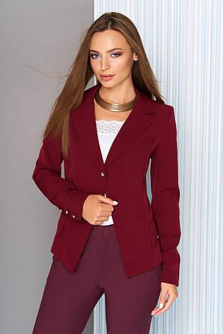 9a252b2cac3 Женский деловой пиджак на одну пуговицу с отложным воротником