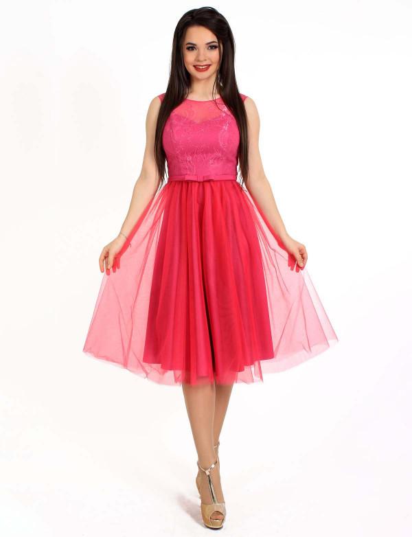 Платье женское розовое вечернее ENIGMA MKENP 0788