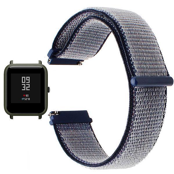 Нейлоновий ремінець Primo для годин Xiaomi Huami Amazfit Bip / Amazfit GTS - Navi Blue